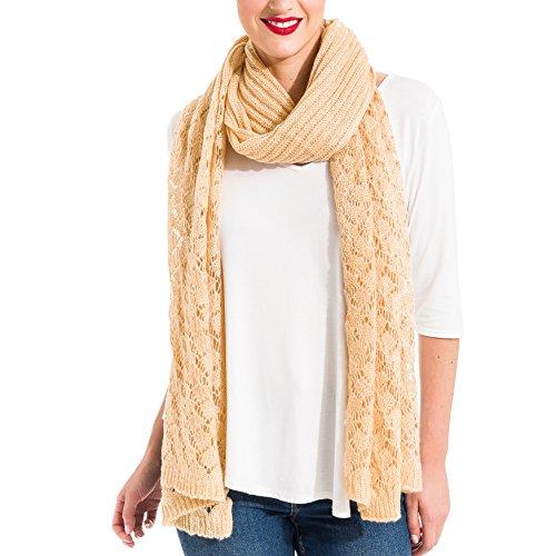 Bufanda Pañuelo Cuello de Mujer de Invierno Suave Clásico Elegante (SS15)