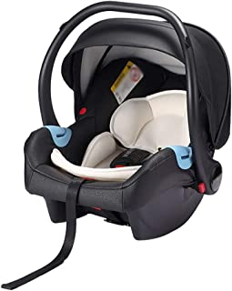 Lcb Cochecito de bebé Asiento de Coche, recién Nacido Tipo Cesta, Tipo de vehículo, Tipo portátil Tres Modos se Pueden Cambiar a voluntad, Adecuado for los bebés 0-15 Meses (Color : Black)