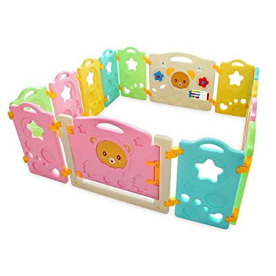 14 Panel Baby Playpen, Safety Play Yard for Kid...