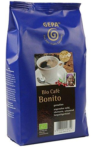 GEPA Basico Bio Kaffee gemahlen - Säurearmer Röstkaffee - 1 Karton (10 x 500g)