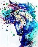 Paint by Numbers 大人と子供用 初心者用 アクリル絵画 DIY油絵 16x20インチ 賢いフクロウ (フレームなし) lilana-HLZ-036-1116