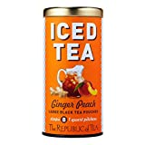The Republic of Tea Ginger Peach Black Iced Tea, 8 Large Iced Tea Pouches / 8 Quarts, Award-Winning...