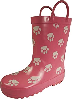 Waterproof Rubber Rain Boots for Girls & Boys - Toddlers & Big Kids - Solid & Printed Rainboots
