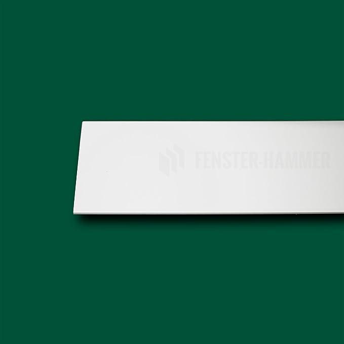 Fensterleiste Flachprofil PVC mit Lippe selbstklebend 40mm breit 2m lang Abdeckleiste