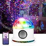 Opard Discokugel, Bluetooth Musikspieler LED Discolicht, RGB Lichteffekt Partylicht, Party Deko für Halloween Weihnachten Kinder Disco DJ Party Geburtstag(Weiß)