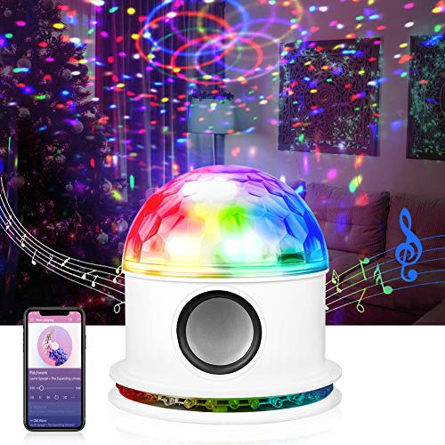 Opard Discokugel, Bluetooth Musikspieler LED Discolicht, RGB Lichteffekt Partylicht, Party Deko für Halloween Weihnachten Kinder Disco DJ Party...