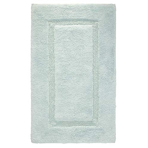 Price comparison product image iDesign Bathroom Mat,  Rectangle-Shaped Small Rug Made of Cotton,  Spa Blue,  53.3 cm x 86.4 cm