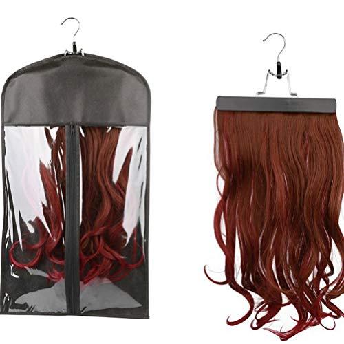 Beaupretty Extensions de cheveux portables porte-sac rangement sac perruque stockage de perruque non-tissé organisateur étanche à la poussière extensions cheveux professionnels pour femmes 2pcs