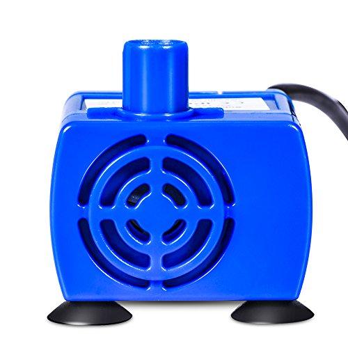 KUIDAMOS Bomba de Agua de Fuente de alimentación de Mascotas eléctrica Sumergible...