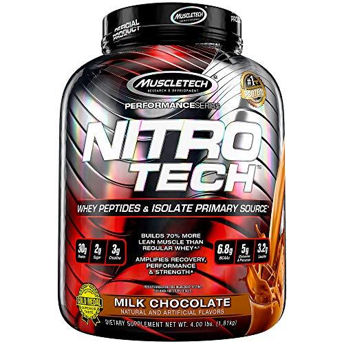 Muscletech Suplemento para Deportistas Nitro Tech Performance Series, Sabor de Chocolate - 1800 gr ✅