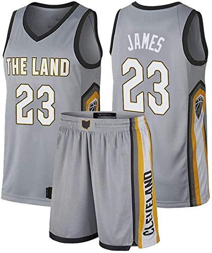 Trajes de Lebron James Jersey del baloncesto de los hombres de los Cavaliers de Cleveland # 23, retro bordado Baloncesto Traje Uniforme, unisex sin mangas gimnasio de deportes Chalecos Pantalones cort