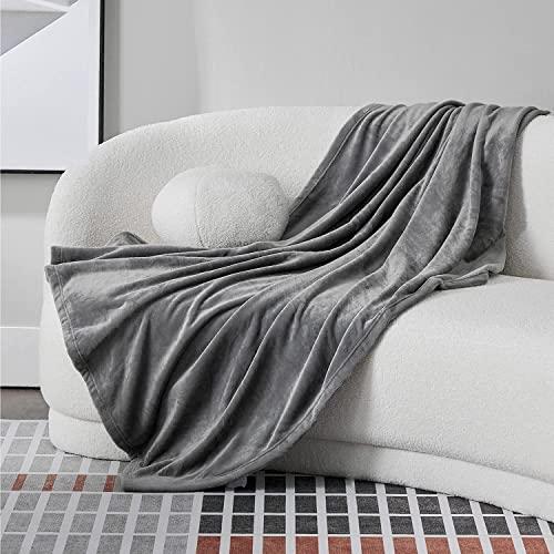 BEDSURE Sofa Decken grau Bild