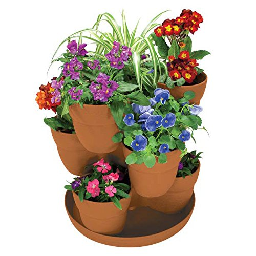 EMSCO Bloomers Stackable Flower Tower Planter Now $14.65 (Was $38.99)