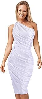 HDE Women's One Shoulder Midi Cocktail Dress
