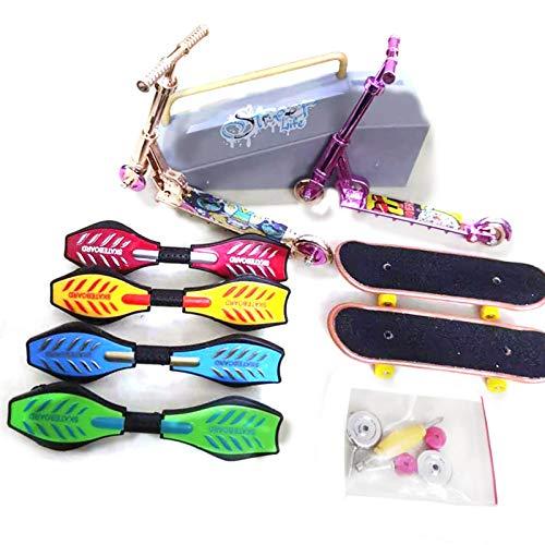 A/A Mini Alloy Finger Bicycle Scooter Vitality Board Toy - Skate Park Kit Juego De Juguetes para Dedos con Rampas Parques para Deportes con Los Dedos. Adecuado para Personas con TDAH, con Depresión