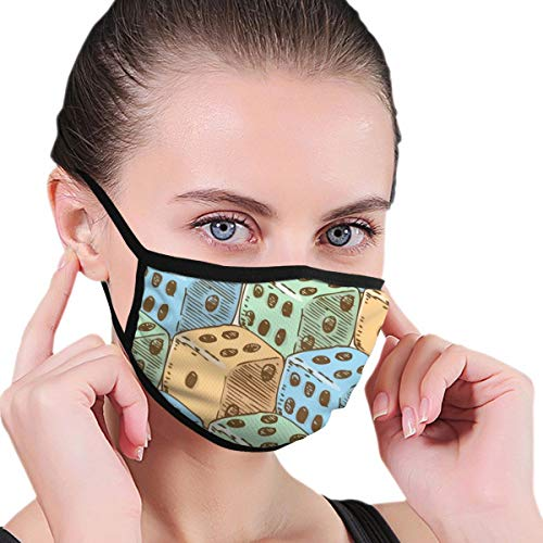 Colorido juego de dados casino cara cubierta bandana caliente diadema cuello polaina – Multifuncional Headwear Anti-polvo bufanda transpirable máscara de enfriamiento tejido de punto