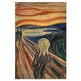 artboxONE Poster 30x20 cm Natur Der Schrei von Edvard Munch