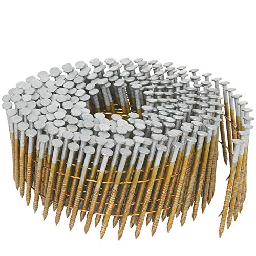 Metabo HPT 13362HPT 1-1/2-Inch x 0.092-Inch Collated Wire Coil Siding Nails | Full Round-Head | Ring Shank | Hot-Dipped Galvanized | 3600 Count