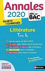 Annales littérature bac 2020