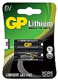 GP Batteries Lithium 2CR5 Litio 6V - Pilas (Litio, -40-60 °C, Negro, Ampolla)