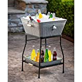 Beverage Tub and Tray with Stand Set