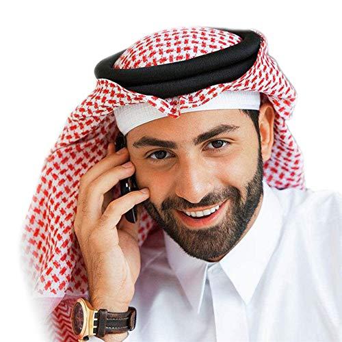 BaronHong Classic Middle Eastern Pattern Cabeza árabe Cubierta Turbante Hombres Musulmanes Pañuelo en la cabeza