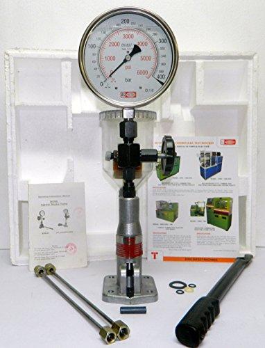 Diesel Einspritzdüsen Prüfgerät Dualskala Glycerin Gefüllt Manometer - 400 Bar / 6000 PSI