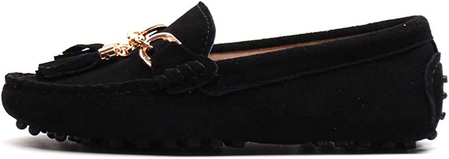 Litllin 2019 Casual Womens shoes Genuine Leather Women Loaferss Fashion Slip On Women Flats shoes Black