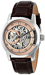 Stuhrling Original Men's 837.04  Delphi Automatic Skeleton Rose Dial Brown Watch (B00KR74D4U) | Amazon price tracker / tracking, Amazon price history charts, Amazon price watches, Amazon price drop alerts