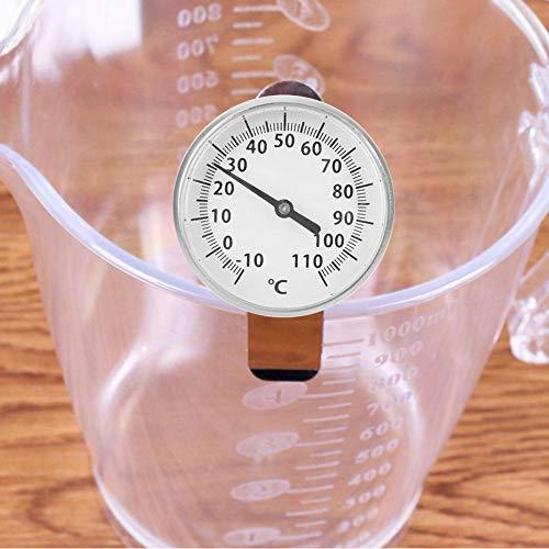 Jeankak Sofort gelesenes Metallkaffeethermometer, klares und genaues Skalensondenthermometer, Korrosionsbeständigkeit Nadeltemperatur Küchenlebensmittel für den Heimgebrauch