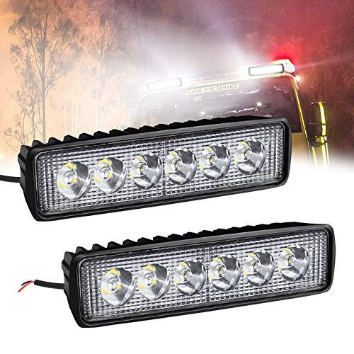 Froadp 18W LED Arbeitsscheinwerfer Quadrat Offroad Flutlicht Zusatzscheinwerfer 12V/24V Rückfahrscheinwerfer Arbeitslicht IP67 für SUV UTV ATV(2 Stück)