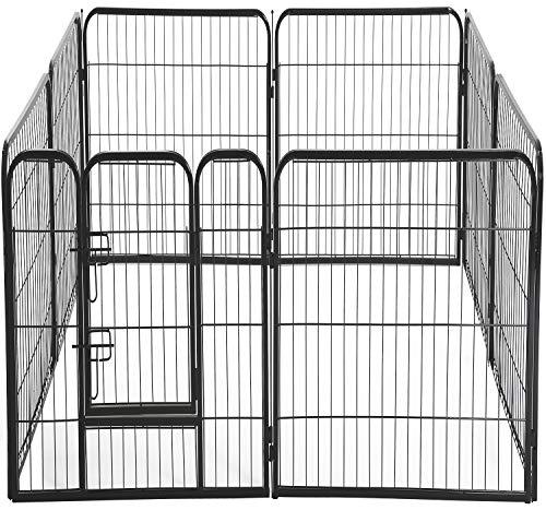 Pet Playpen 8 Panel 40 inch Indoor & Outdoor Folding Metal Exercise Pen & Pet Playpen Puppy Cat Exercise Fence Barrier Playpen Kennel