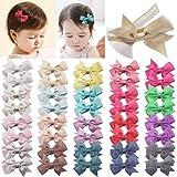 JOYOYO Mini-Haarschleifen mit vollständig gefütterten Krokodilklemmen, Glitzer-Schleifen, Baby-Haarspangen, Haar-Accessoires für Kleinkinder, Kinder, 40 Stück