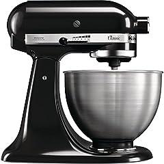 KitchenAid CLASSIC 4.3 L-keukenmachines met kantelbare motorkop, 4,3 L, zwart*
