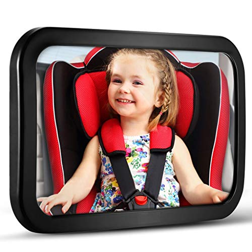 Baby Car Mirror, DARVIQS Car Seat Mirror, Safely Monitor Infant Child in Rear Facing Car Seat, Wide...