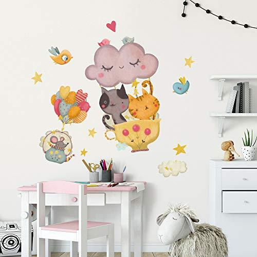Vinilo decorativo infantil R00518 - Medidas 30x100 cm - Decoración de pared, Vinilos decorativos, Papel Pintado Adhesivo Efecto Tela