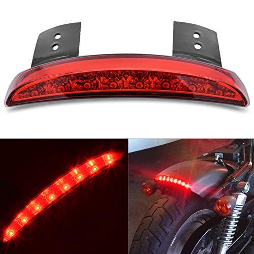 KaTur Fender bord moto 8 LED rouge d'arrêt Courir frein arrière Feu arrière pour Harley Sportster XL 1200N 883N XL1200V XL1200X (Objectif Rouge)