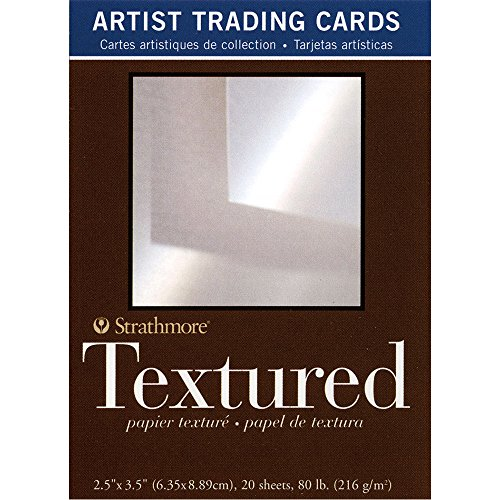 Strathmore (105-906 400 Series Artist Trading Cards, Textured Surface, Natural White, 20 Sheets