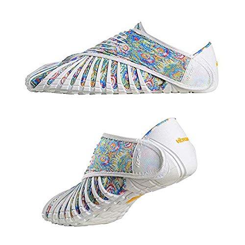 YLLYI Calzado Deportivo Casual Calzado Plano De Suela Blanda, Vibram Furoshiki Calzado De Cinco Dedos Calzado Envuelto Calzado Envuelto,Blanco,L