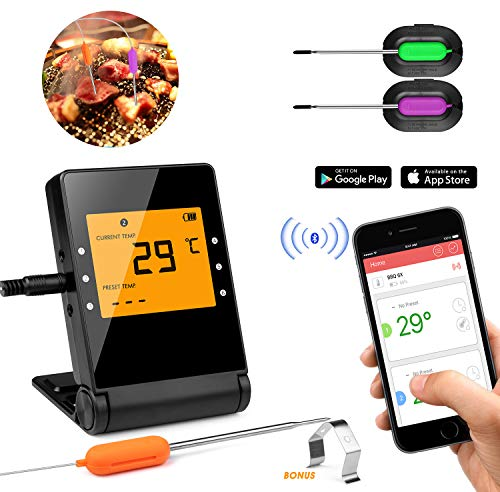 KINGLEAD Grillthermometer Bratenthermometer Fleischthermometer Digitales BBQ Küchenthermometer