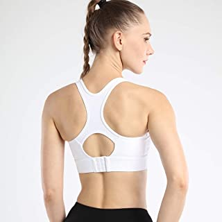 Women Sports Bra Sexy Mesh Brathable Sports Top Push Up Female Gym Fitness Sports Yoga Underwear zhengpingpai (Color : Whi...