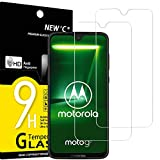 NEW'C 2 Unidades, Protector de Pantalla para Motorola Moto G7, Antiarañazos, Antihuellas, Sin Burbujas, Dureza 9H, 0.33 mm Ultra Transparente, Vidrio Templado Ultra Resistente