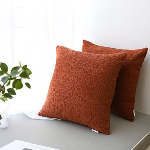Best Kevin Textile Decor Solid Decorative Toss Euro Pillow Cover Case Striped Corduroy Cushion Cover for