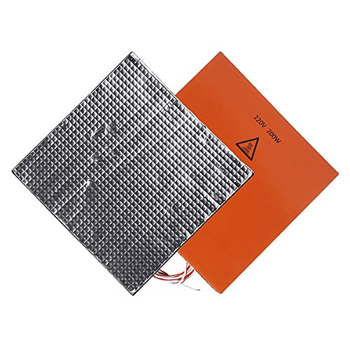 Xigeapg 220V 3D Printer Accessory Heated Bed Thermal Insulation Cotton Heat Insulation Mat 3D Printer Heating Bed Sticker
