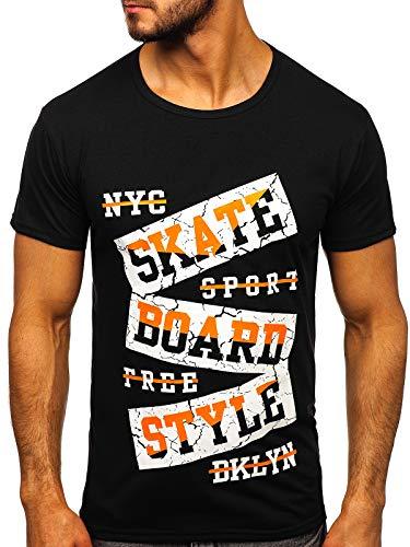 BOLF Hombre Camiseta Manga Corta Escote Redondo