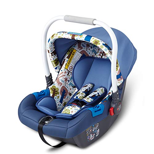 Great Deal! Car Seat RENJUN- Infant Flank Heightened Protection 3 Adjustable Straps Removable Awning...