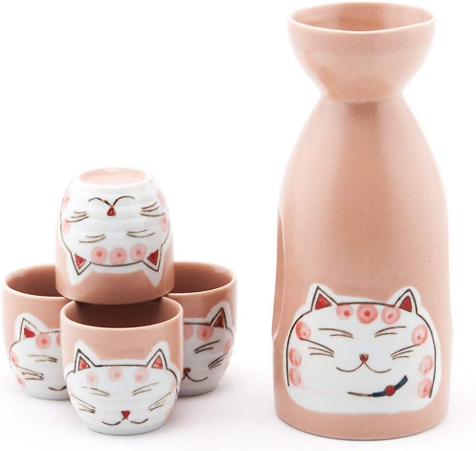 Happy Sales HSSS-LKCTPK Japanese Design Cat M Lucky Fortune Max 66% OFF Branded goods