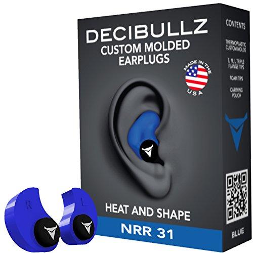 Decibullz - Custom Molded Earplugs, 31dB Highest NRR, Comfortable Hearing...