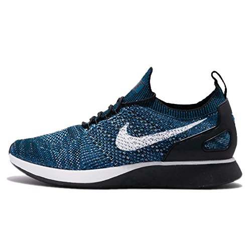 Nike Womens Free Rn Flyknit Fabric Low Top Lace Up Running, Blue, Size 11.5