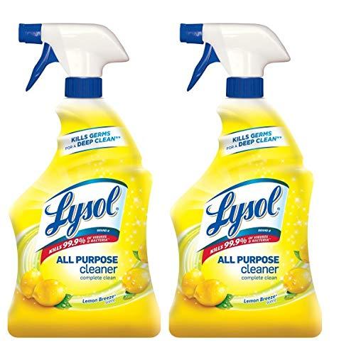 Lysol All-Purpose Cleaner Trigger, Lemon Breeze Scent, 32 Fluid Ounce, 2 Count